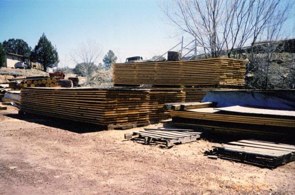 1x12 Ponderosa Pine, Rough Cut on Sticks